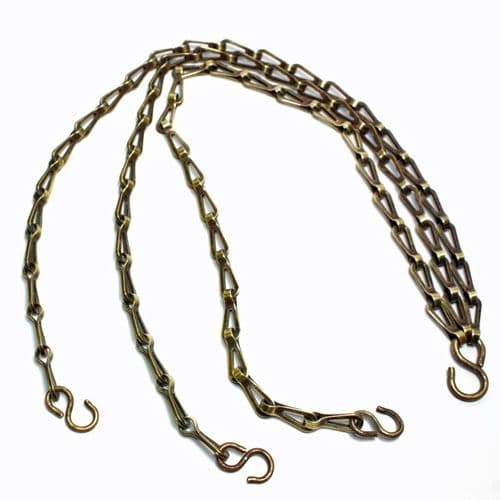Solid Brass Brushed Antique Finish Hanging Basket Chain