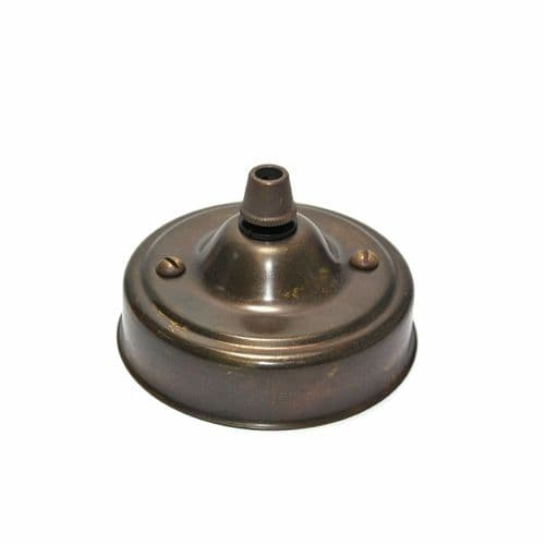 Solid Brass Cordgrip Ceiling Rose Old English Antique Finish
