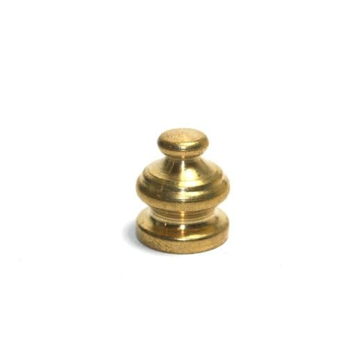 Solid Brass Decorative Finial For Chandliers 18mm High  M10 x 1mm Thread