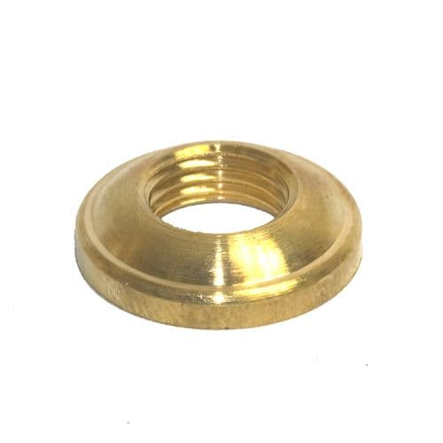 "Solid Brass M10 x 1mm Pitch Bevelled ""D"" Ring Nut Pack of 2"