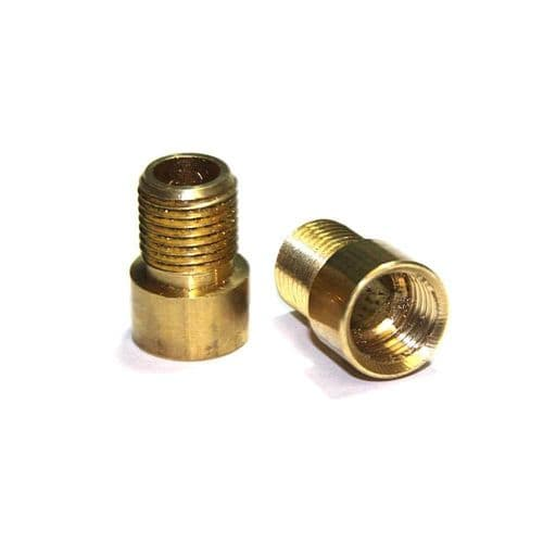 Solid Brass M10 x 1mm Pitch Female to M10 x 1mm Pitch Male Coupler Pack of 2