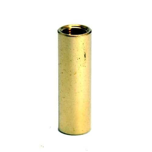Solid Brass M10 x 1mm Pitch Thread Straight Coupler / Joiner 40mm Long PKT 2