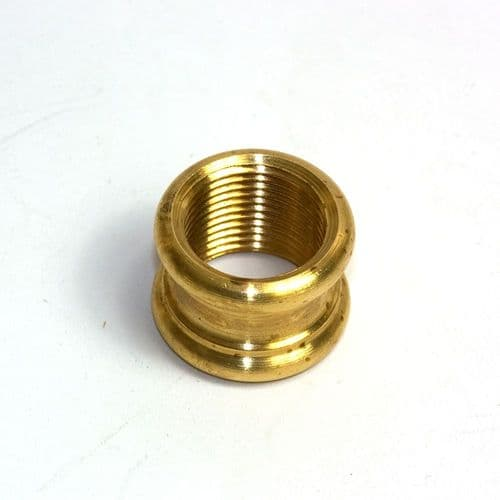 "Solid Brass Ornamental Coupler Polished 1/2"" x 26tpi"