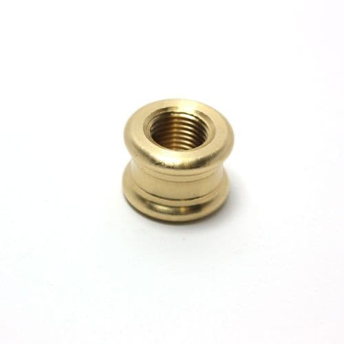Solid Brass Ornamental Coupler Polished M10 x 1mm Pitch