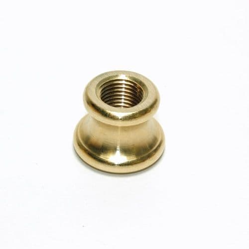 Solid Brass Shaped Female Coupler M10 x 1mm Pitch Thread Raw Finish