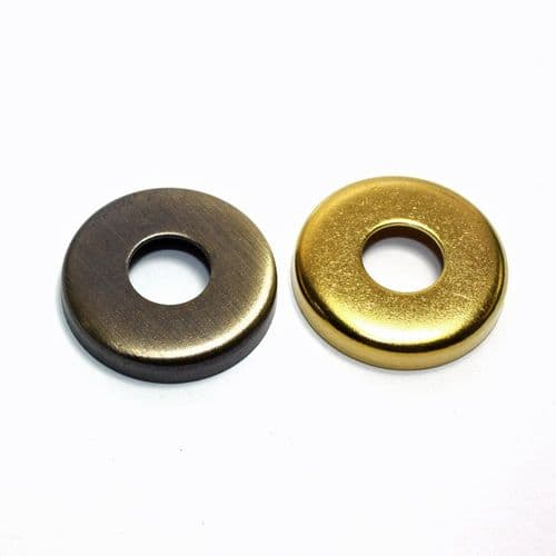 Solid Brass Tube End Cover 10mm Hole Pack of 2