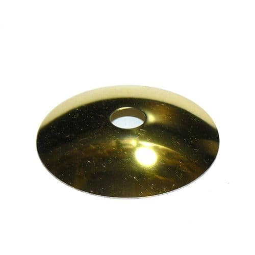 Steel Brass Plated Shallow Dish M10 hole x 55mm Diameter Pack of 5
