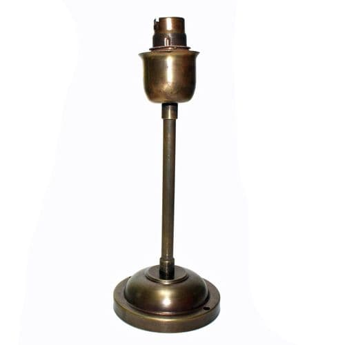 UNWIRED Brushed Antique Finish Solid Brass Drop Rod and BC Lampholder 235mm  Drop