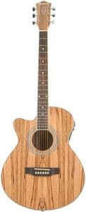 Chord Native Exotic Wood Electro Acoustic - Zebrano Left Hand
