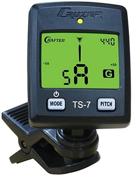 Crafter TS7 Chromatic Guitar Tuner Clip-on