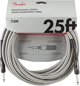 Fender Professional Cable - 25ft White Tweed