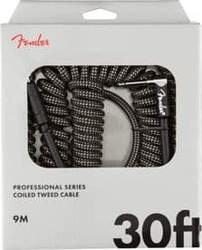 Fender Professional Coil Cable - 30ft - Black Tweed
