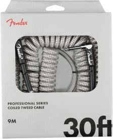 Fender Professional Coil Cable - 30ft - White Tweed