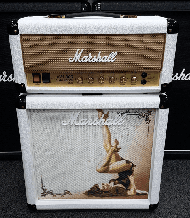 Marshall Design Store SC JCM800 Package - White Gold Pinup