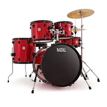Natal Evo 22 Complete Drum Outfit - Red