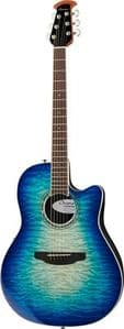 Ovation Celebrity Standard Exotic CS28P-RG - Caribbean Blue/Natural Burst / Quilted Mapl