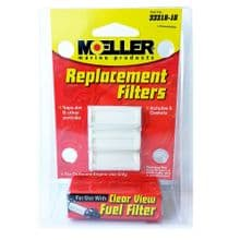 Moeller Clear View In-Line Fuel Filter Refill Pack