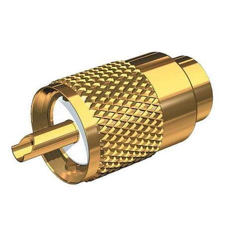 PL-259 Connector for RG-58 5mm Gold Plated Brass