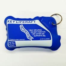 Self Inflating Liferaft Floating Keyring - Supports up to 60g