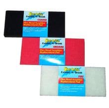 Starbrite Extend-a-Brush Flex Head Scrubber Replacement Pads - Fine, Medium and Coarse Available