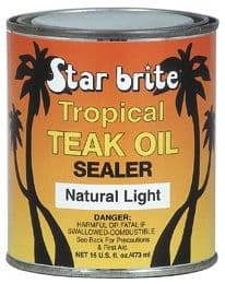 Starbrite Tropical Teak Oil Sealer - Natural Light. 16oz and 32oz Available