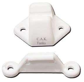 DOOR RETAINING CATCH - WHITE (SET)