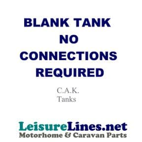 Tank required Blank - no connections