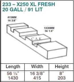 X250 XL FRESH TANK FOR LWB