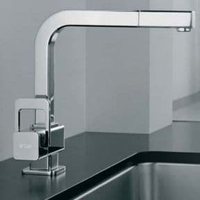 Arwa Quadriga Single Lever Monobloc With Swivel Spout And Pull-Out Rinse Chrome 9.79673