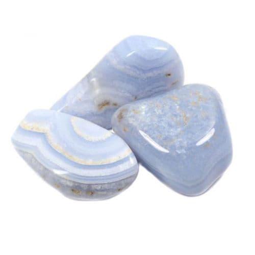 Agate Blue Lace Tumblestone