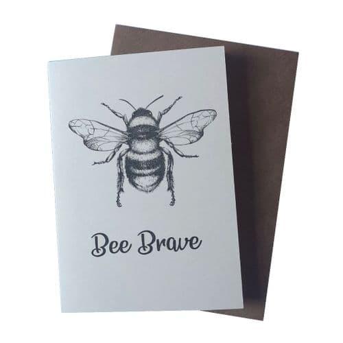 Bee Brave Greetings Card