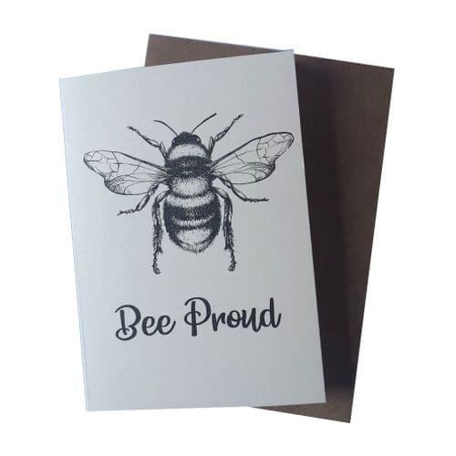 Bee Proud Greetings Card