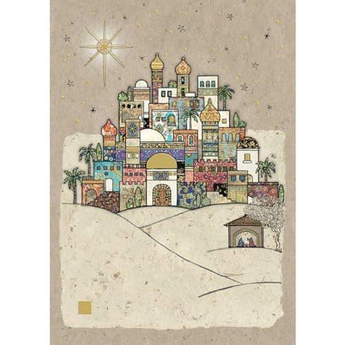 Bug Art Bethlehem Christmas Card
