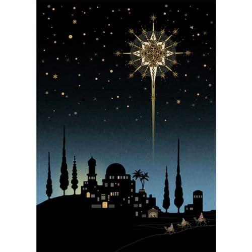Bug Art Bethlehem Star Christmas Card