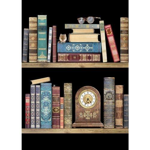 Bug Art Bookshelves Greetings Card
