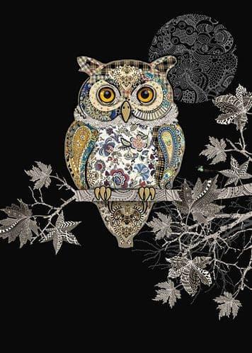 Bug Art Decorative Owl Greetings Card