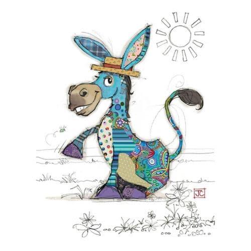 Bug Art Diego Donkey Greetings Card