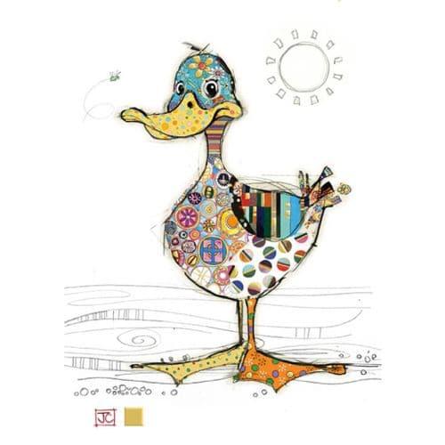 Bug Art Dotty Duck Greetings Card