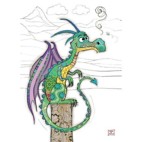 Bug Art Duncan Dragon Greetings Card