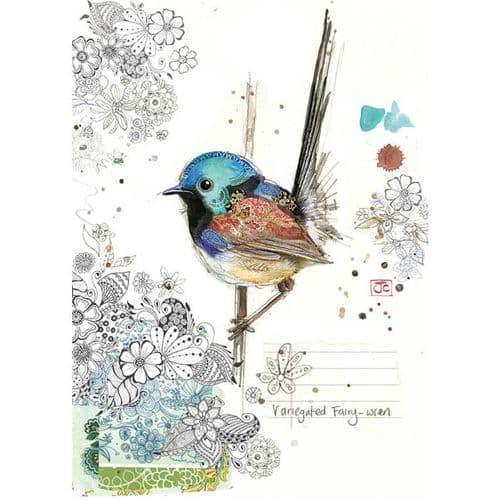 Bug Art Fairy Wren Greetings Card