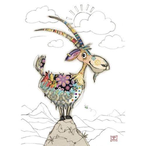 Bug Art Gordon Goat Greetings Card