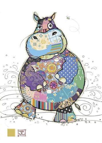 Bug Art Harry Hippo Greetings Card