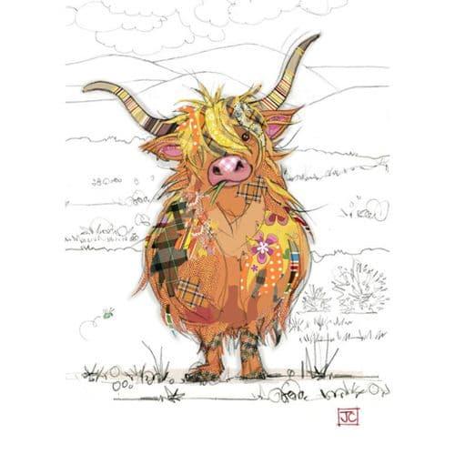 Bug Art Highland Hamish Greetings Card