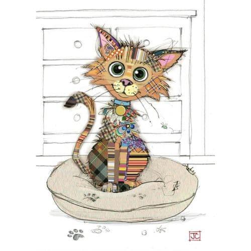 Bug Art Kimba Kitten Greetings Card