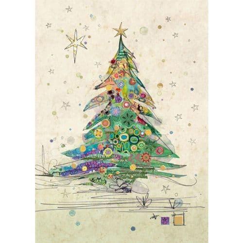 Bug Art Painted Tree Christmas Card