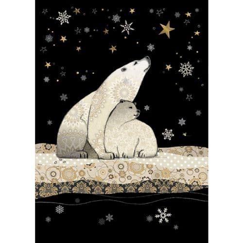 Bug Art Polar Bears Christmas Card