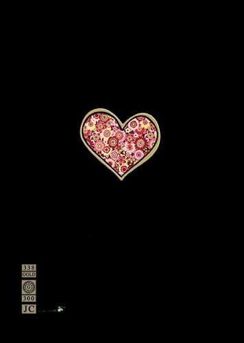 Bug Art Red Heart Greetings Card