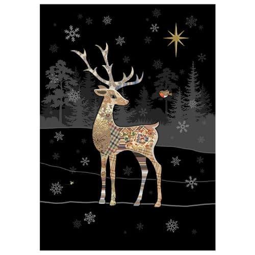 Bug Art Reindeer Robin Christmas Card