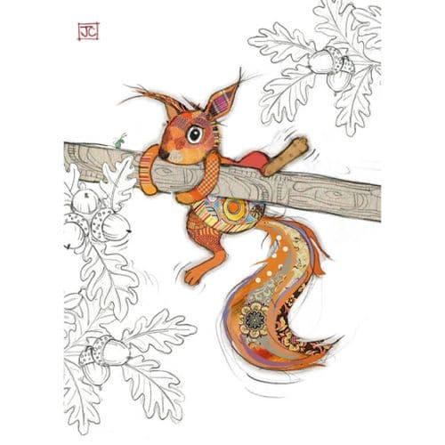 Bug Art Sammy Squirrel Greetings Card