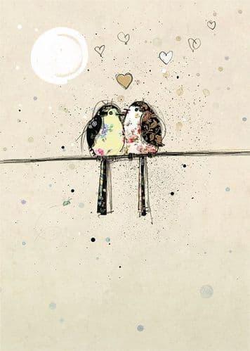 Bug Art Two Lovebirds Greetings Card